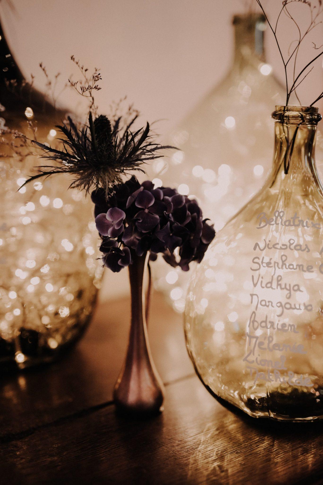 plan de table mariage dans une ferme avec dame jeanne. Empreinte Ephémère wedding planner Provence paris normandie
