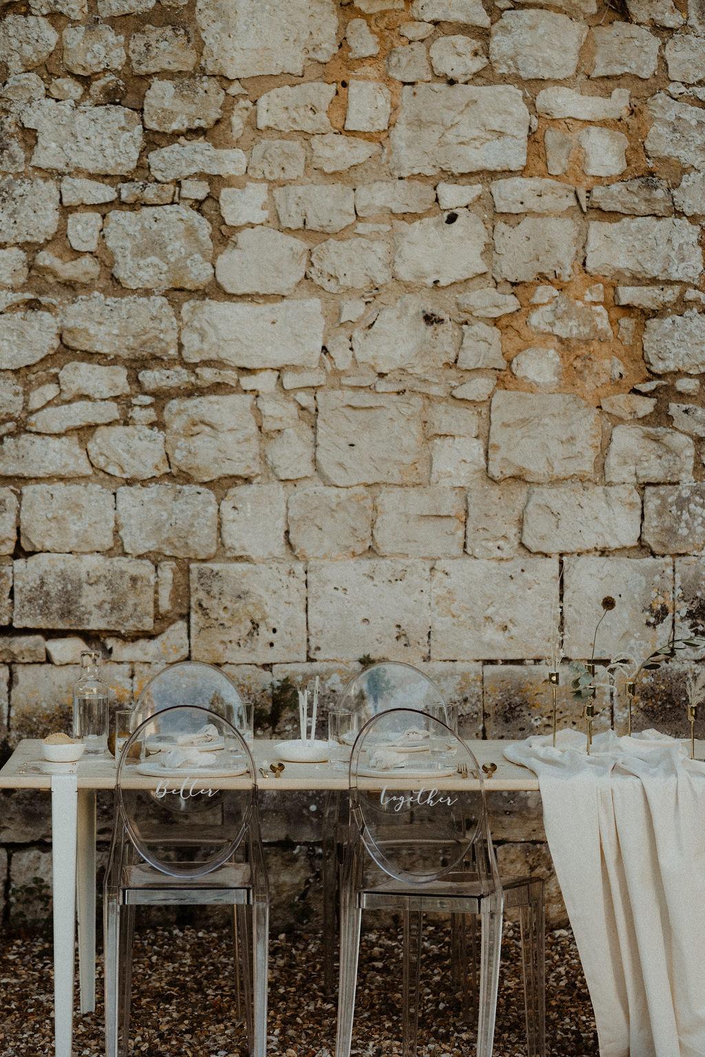 mariage en petit comité et mariage intime dans un lieu de mariage original. Empreinte éphémère wedding planner Provence paris normandie